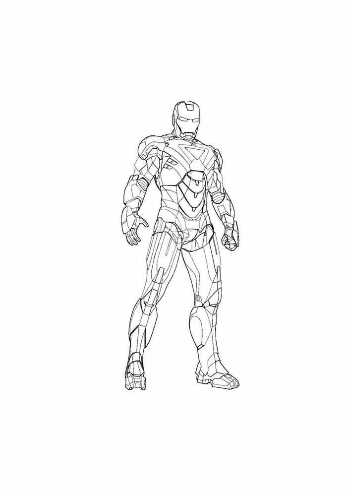 iron man para colorear 29
