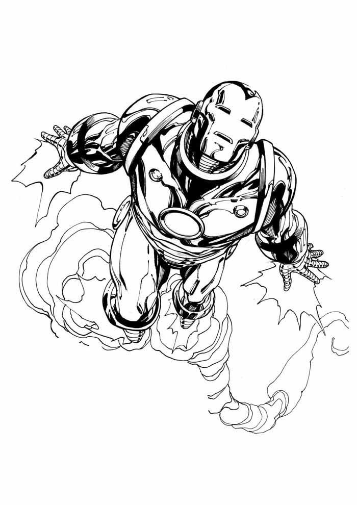 iron man para colorear 3