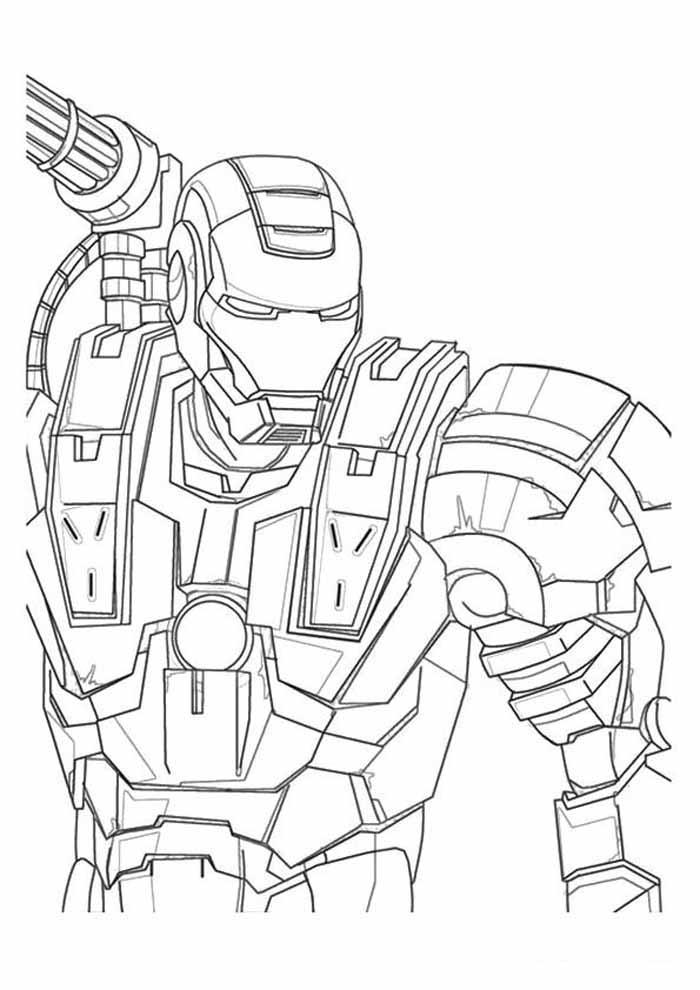 iron man para colorear 37