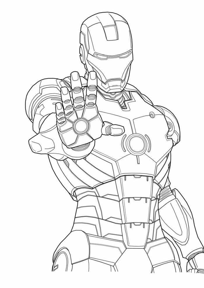 iron man para colorear 4