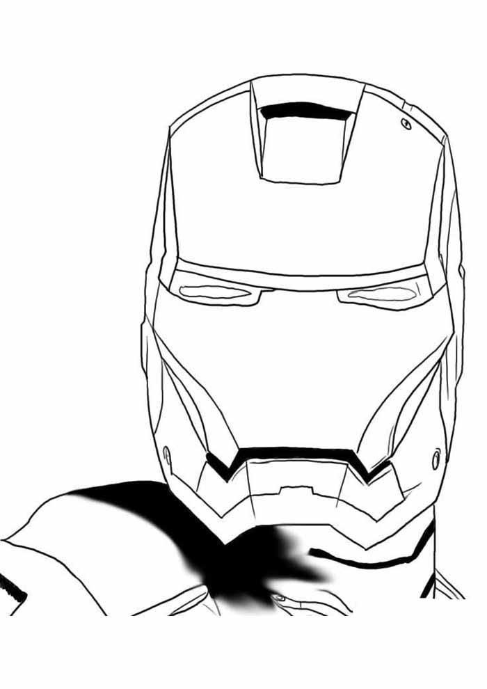 iron man para colorear 7