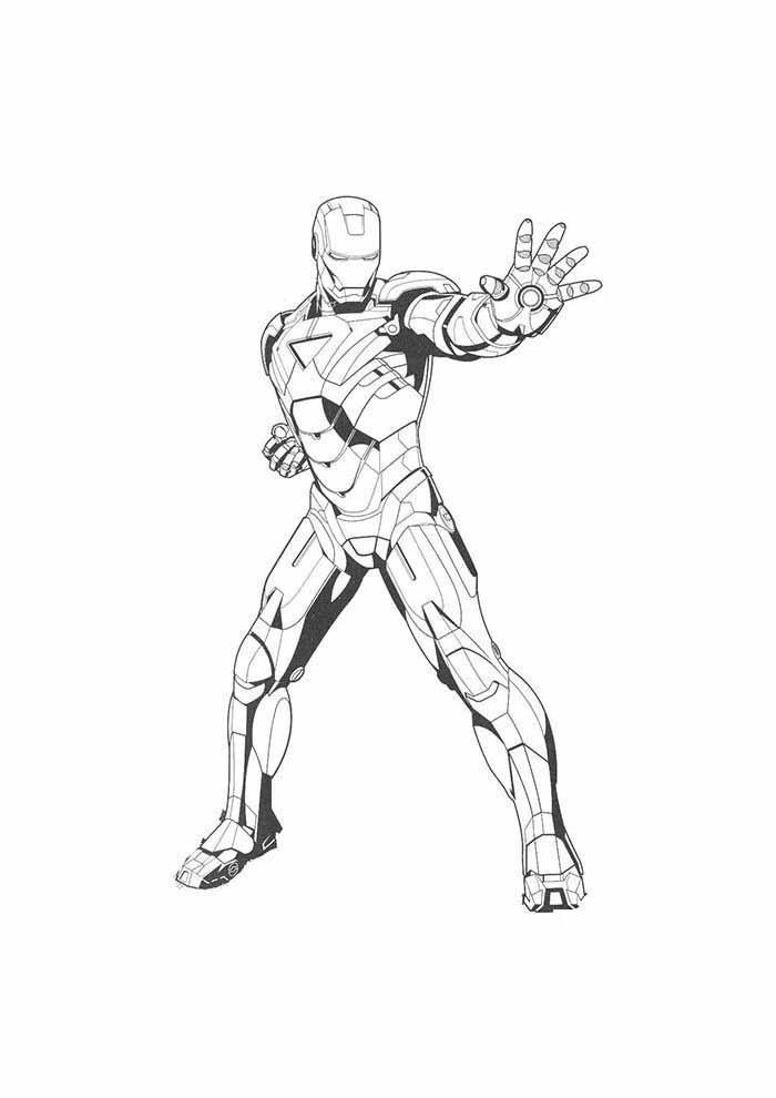 iron man para colorear 8