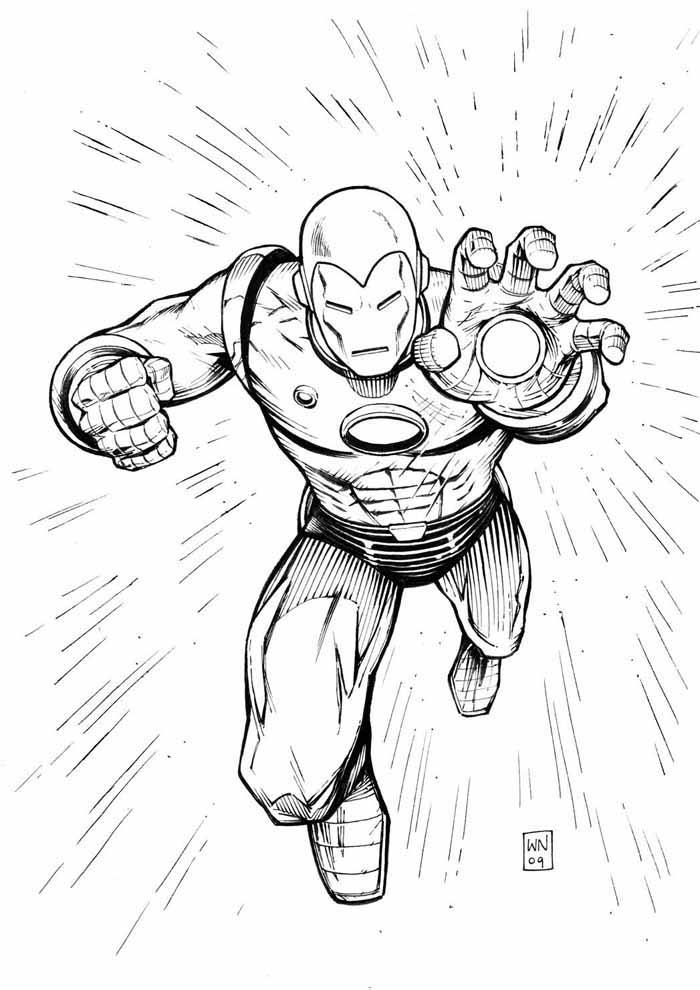 iron man para colorear 9