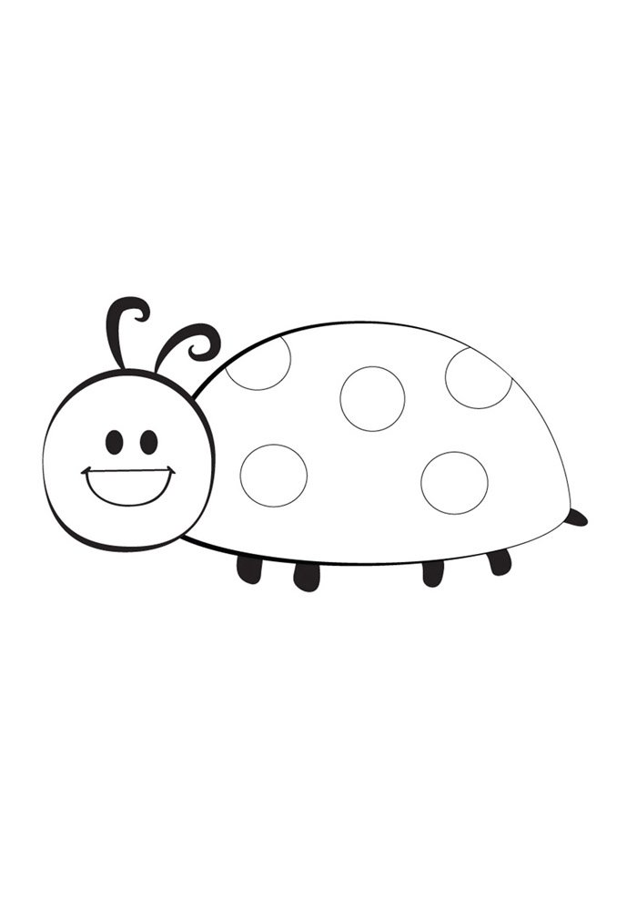 ladybug coloring page 5