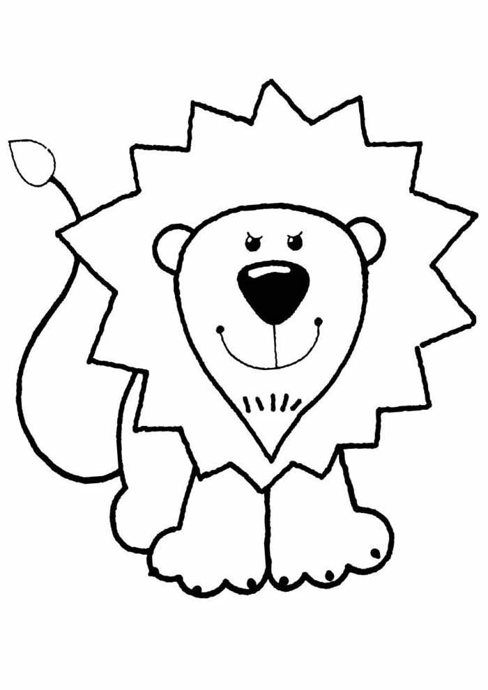 leon coloring page for kids