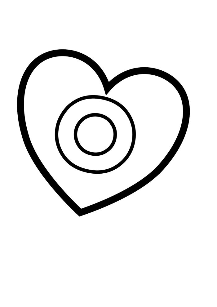 letter o coloring page illustrated