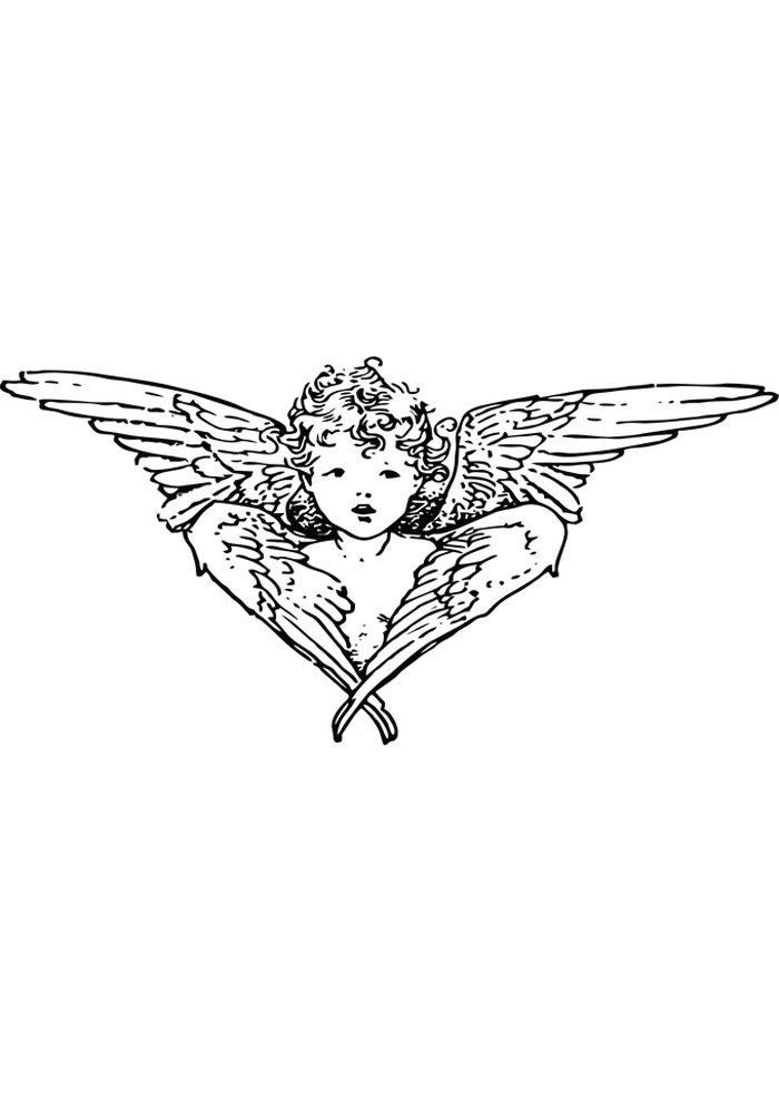 little angel coloring page