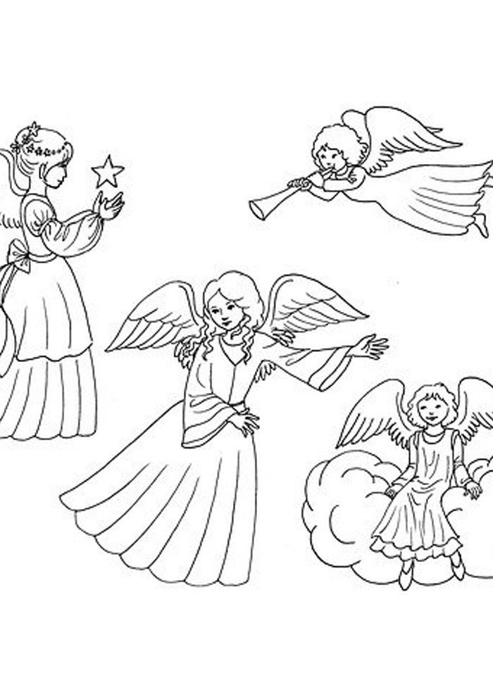 little angels coloring page