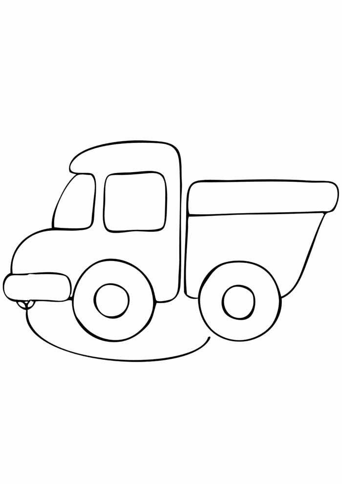 little truck coloring page for kids