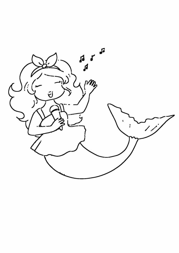 mermaid coloring page 15