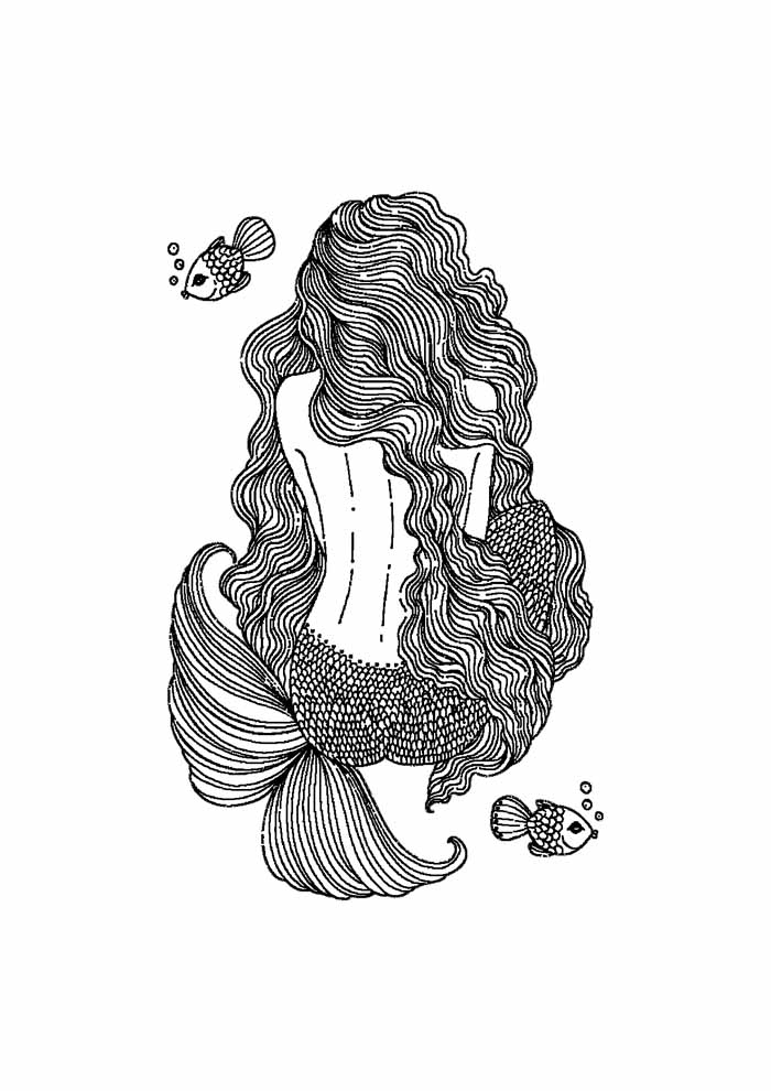 mermaid coloring page 17