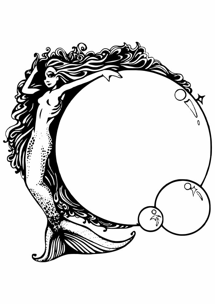 mermaid coloring page 6