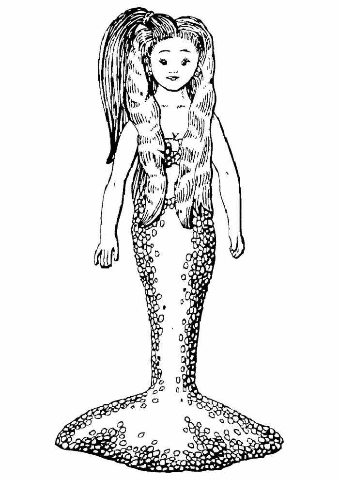 mermaid coloring page 7