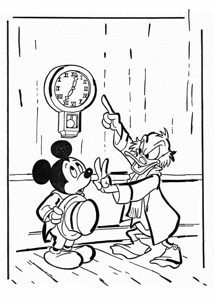 mickey mouse coloring page 2