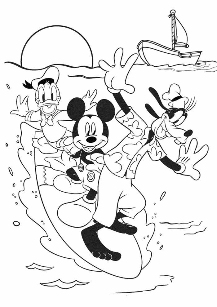 mickey mouse coloring page 37