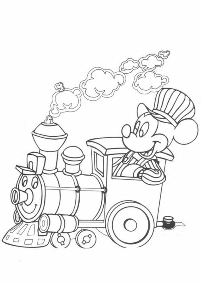 mickey mouse coloring page 8