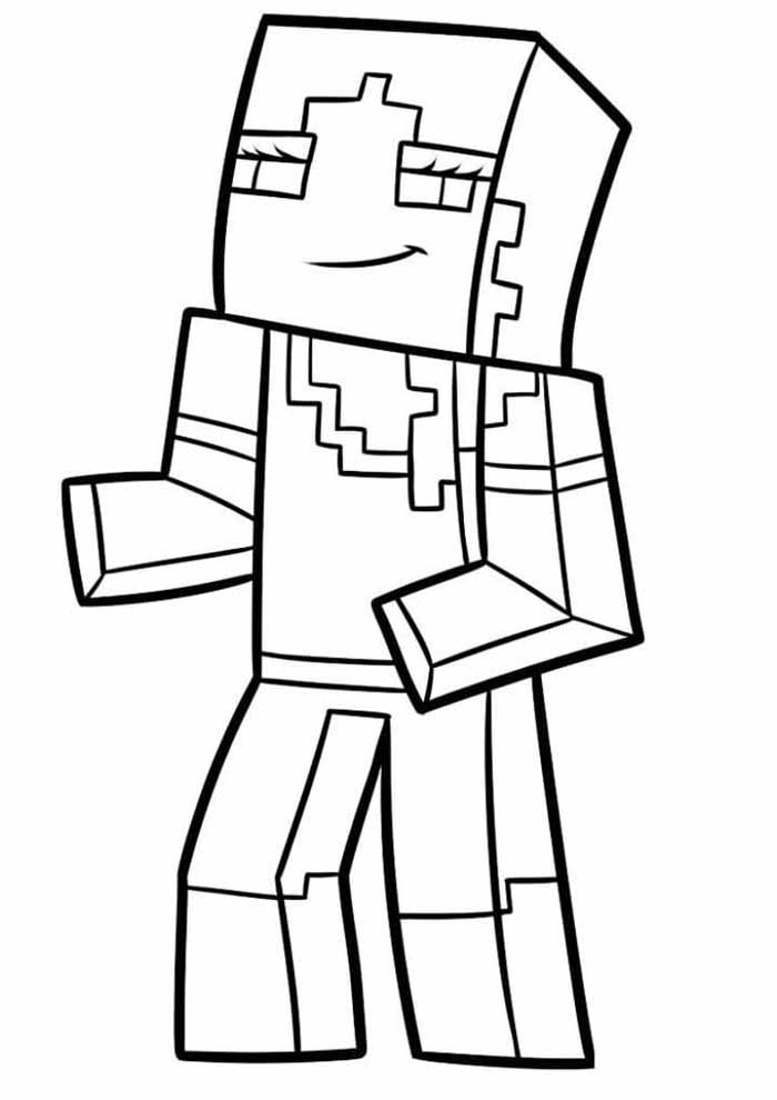 minecraft coloring page 1