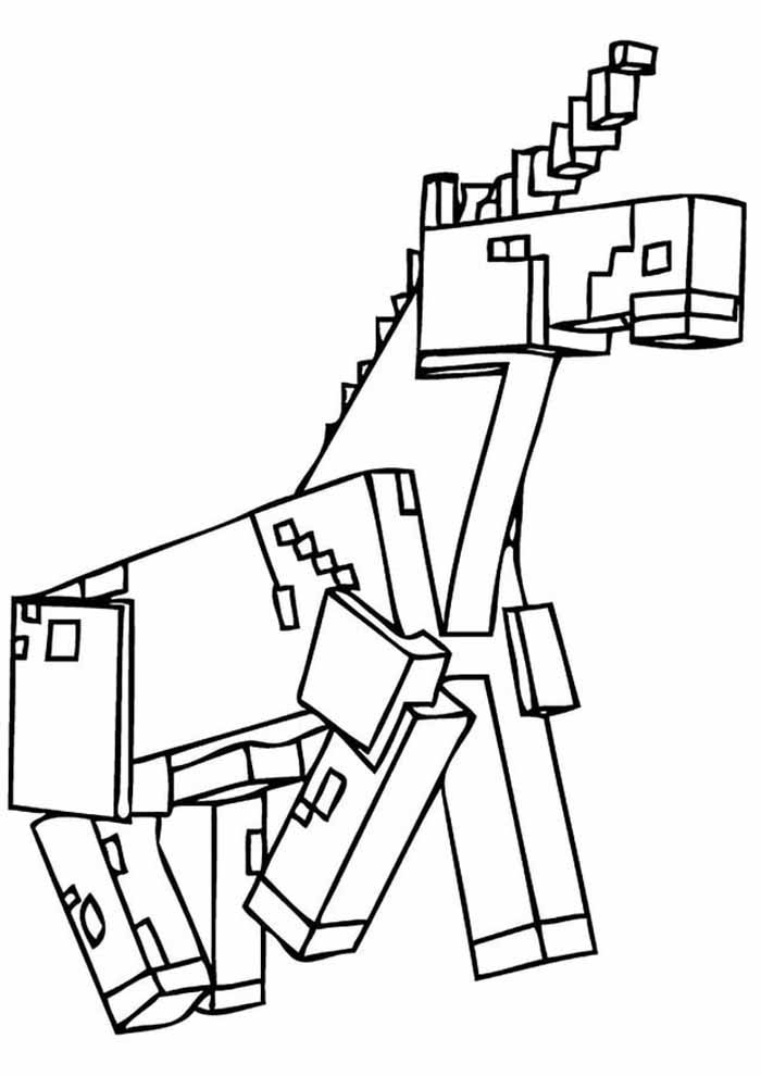 minecraft coloring page 10