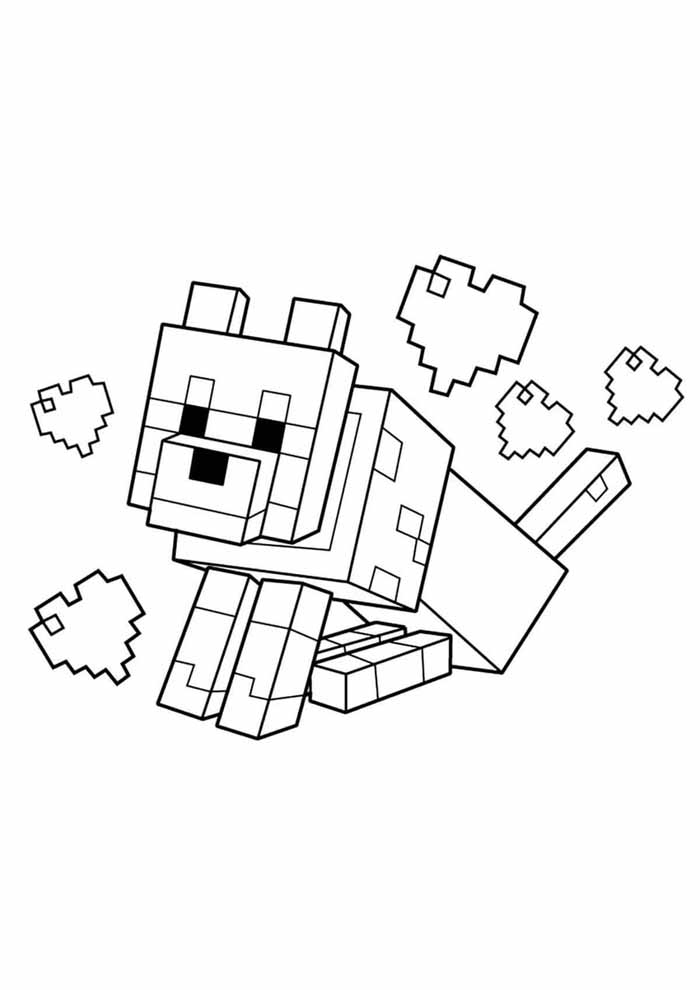 minecraft coloring page 11