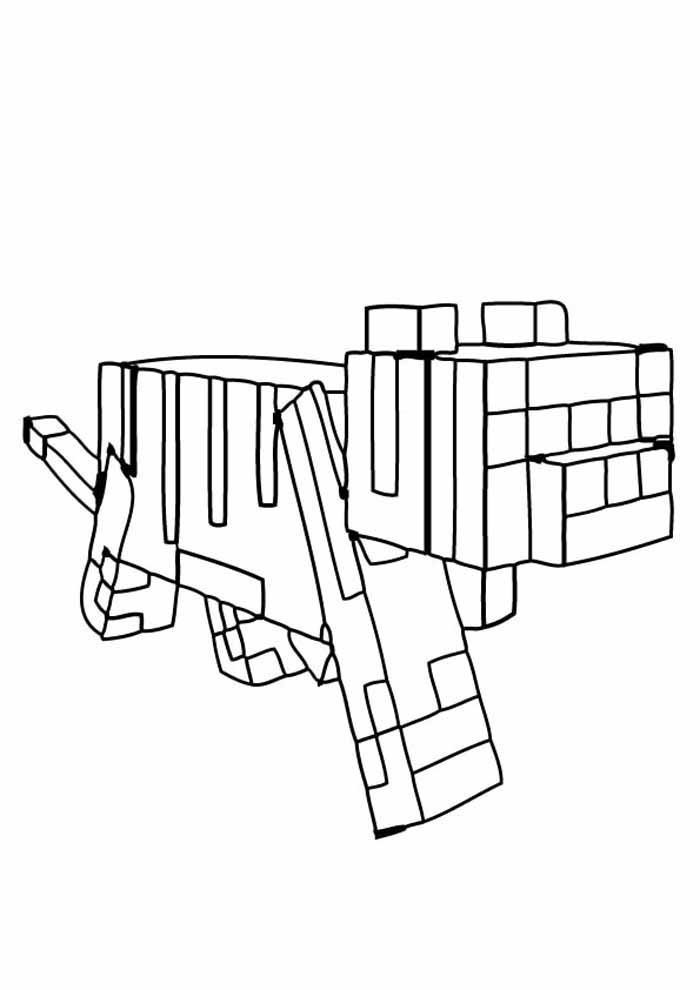 minecraft coloring page 12