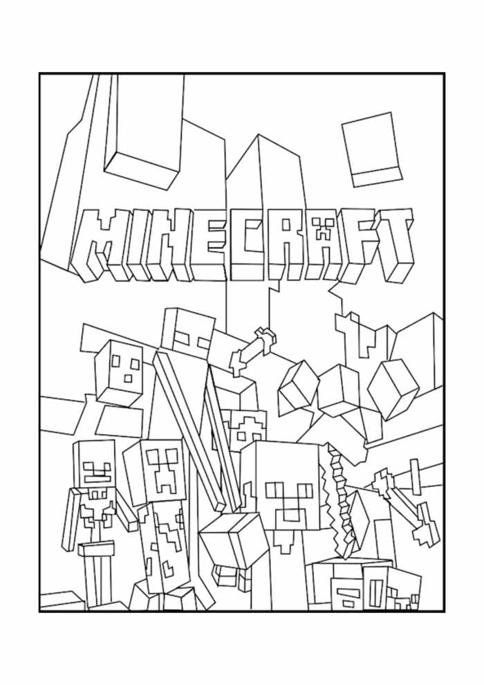 minecraft coloring page 13