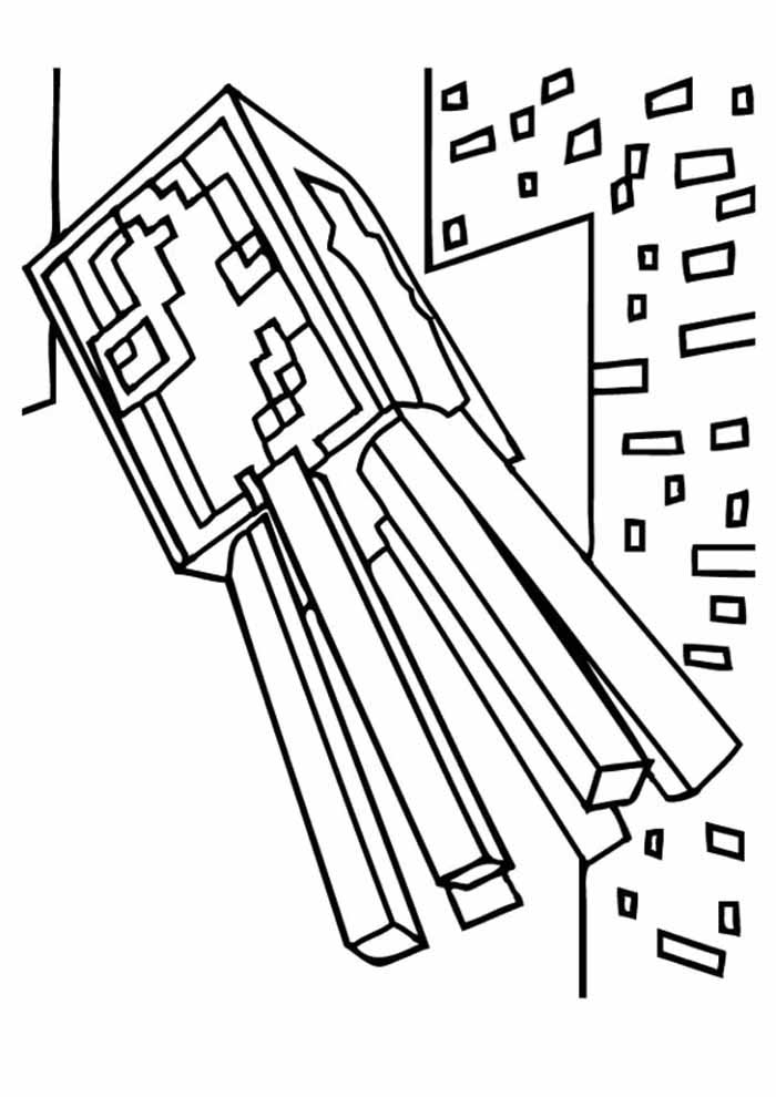 minecraft coloring page 14