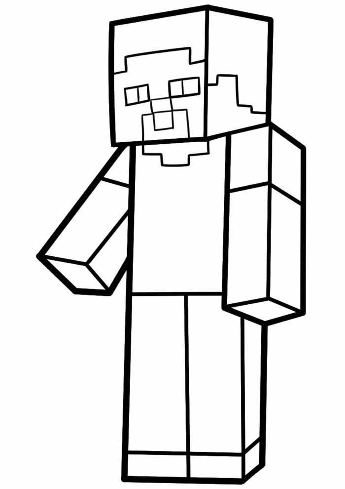 minecraft coloring page 16