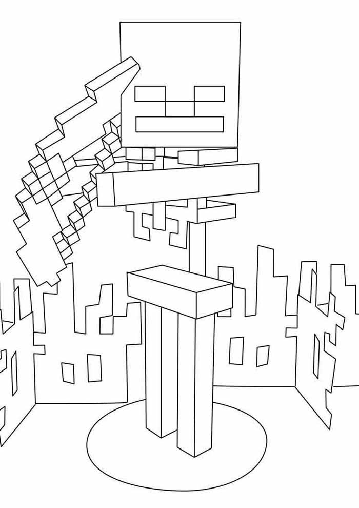 minecraft coloring page 17