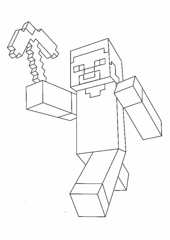 minecraft coloring page 18