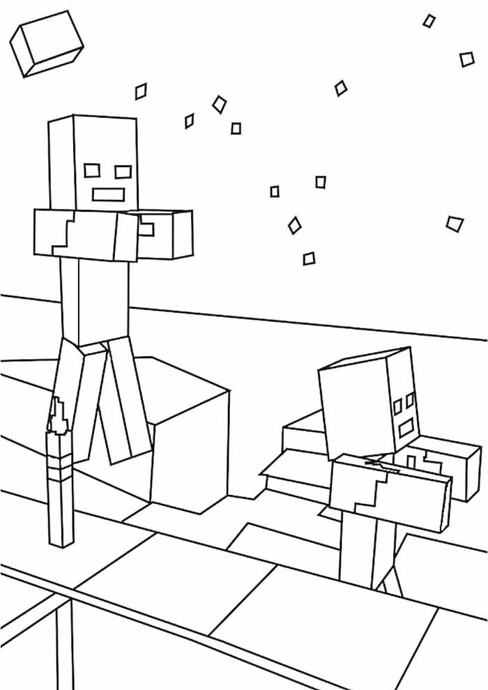 minecraft coloring page 19