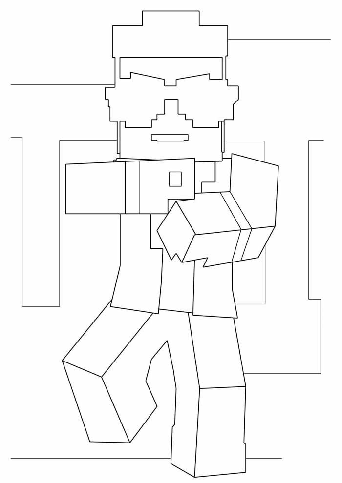 minecraft coloring page 2