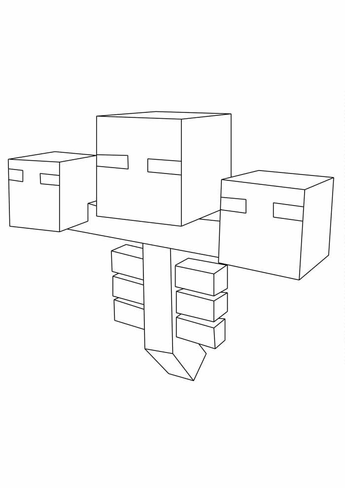 minecraft coloring page 20