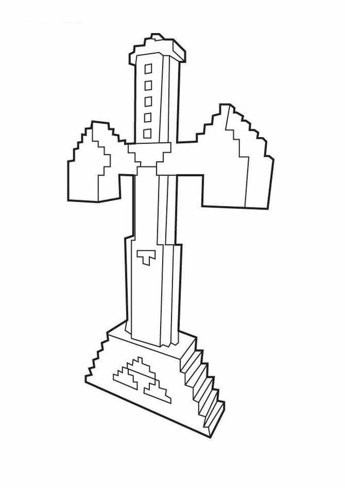 minecraft coloring page 21