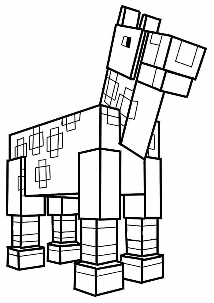 minecraft coloring page 22