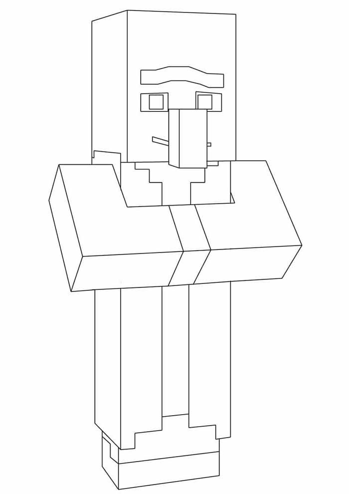 minecraft coloring page 23