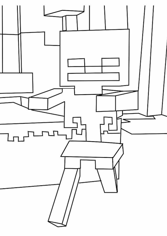 minecraft coloring page 24