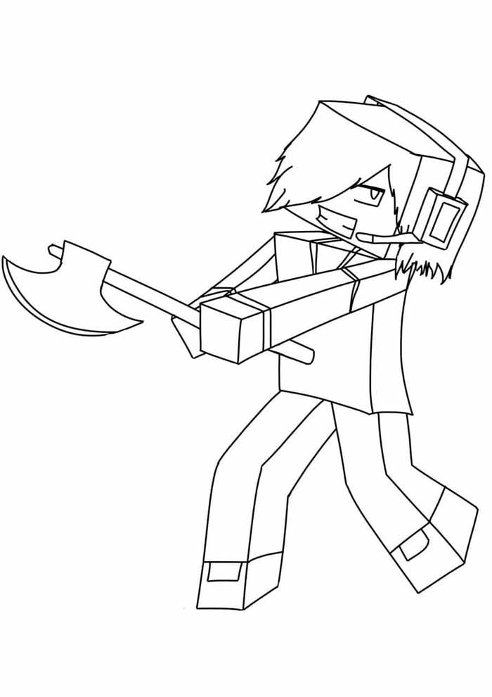 minecraft coloring page 26