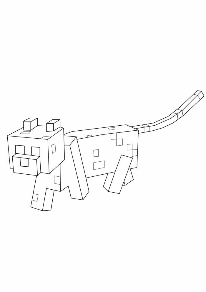 minecraft coloring page 27