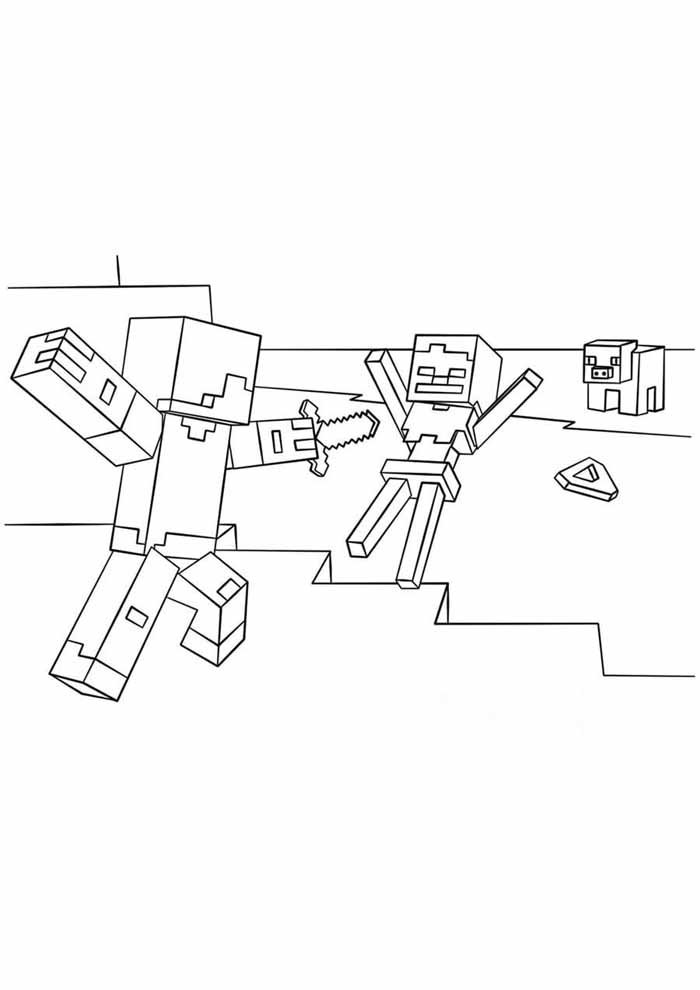 minecraft coloring page 28