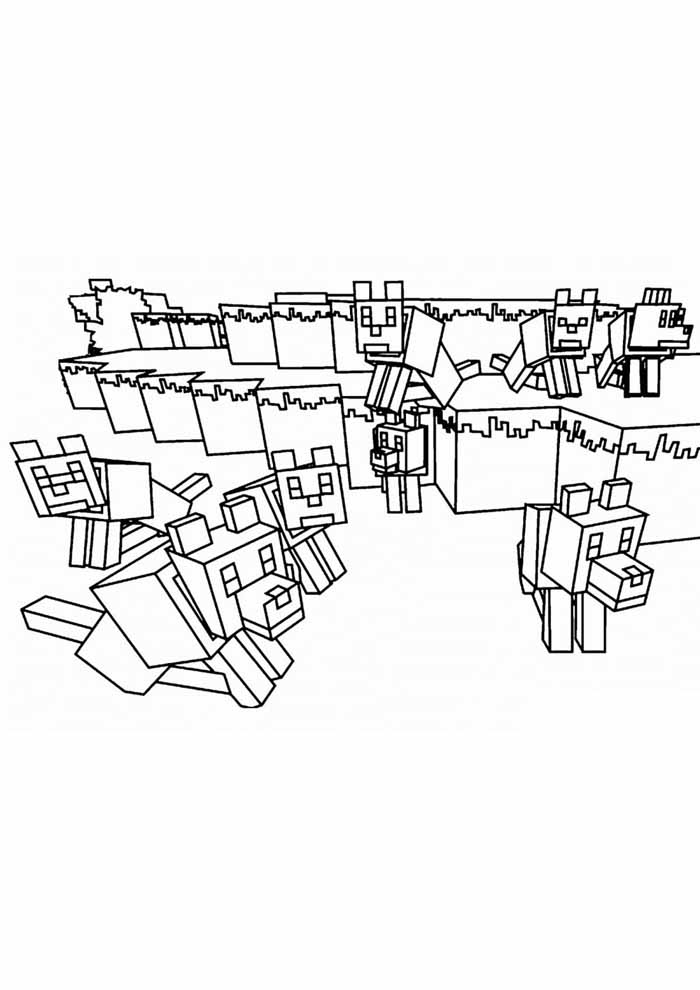 minecraft coloring page 29