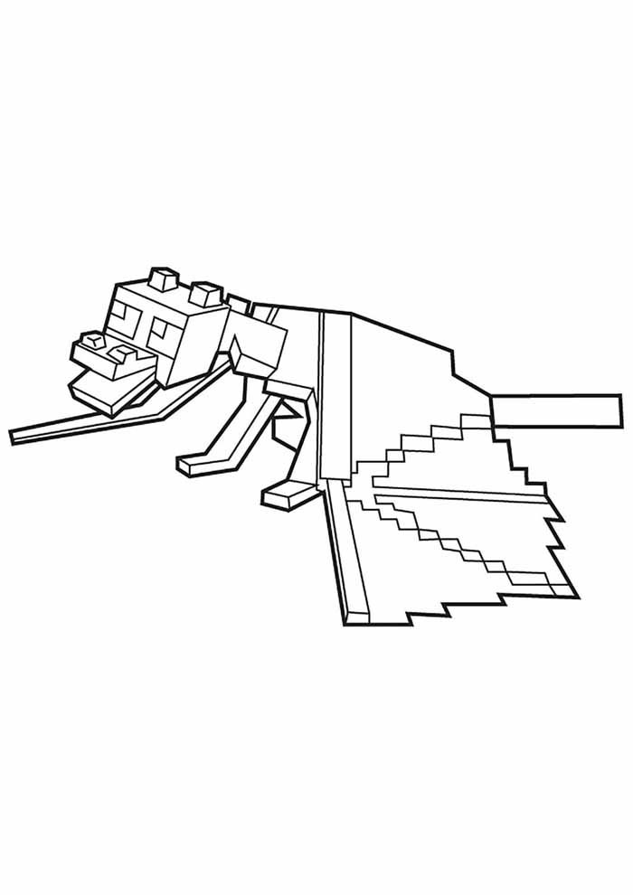 minecraft coloring page 3