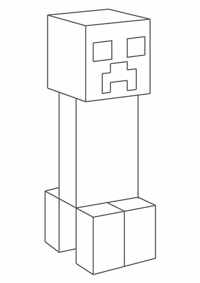 minecraft coloring page 30
