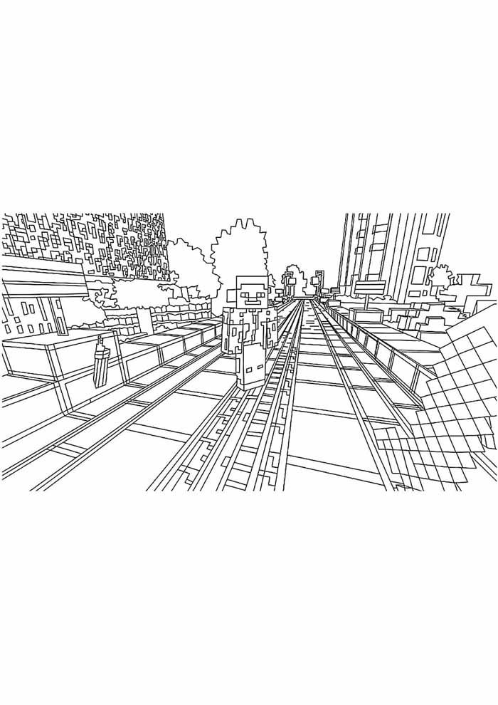 minecraft coloring page 32