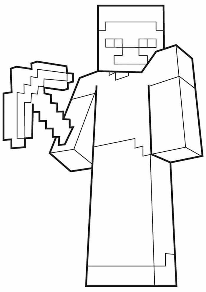 minecraft coloring page 33