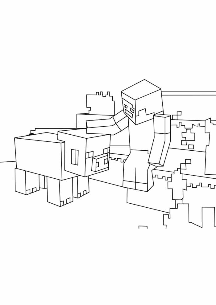minecraft coloring page 34