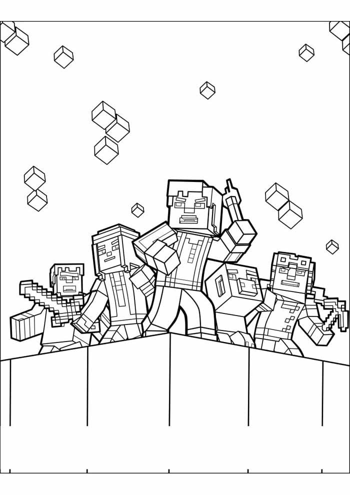 minecraft coloring page 35