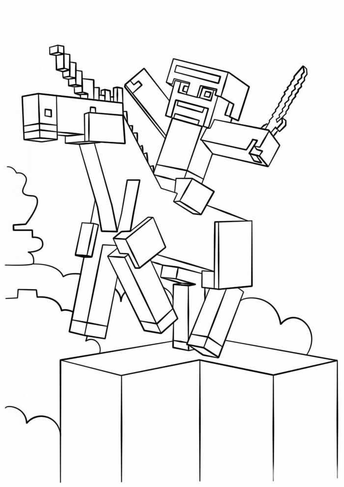 minecraft coloring page 36