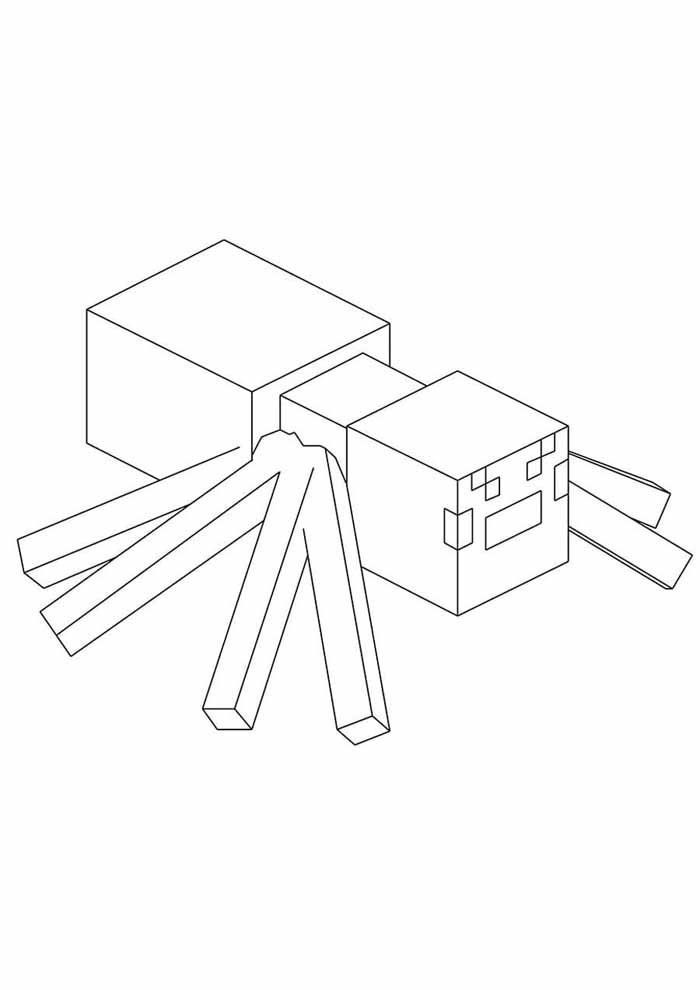 minecraft coloring page 38