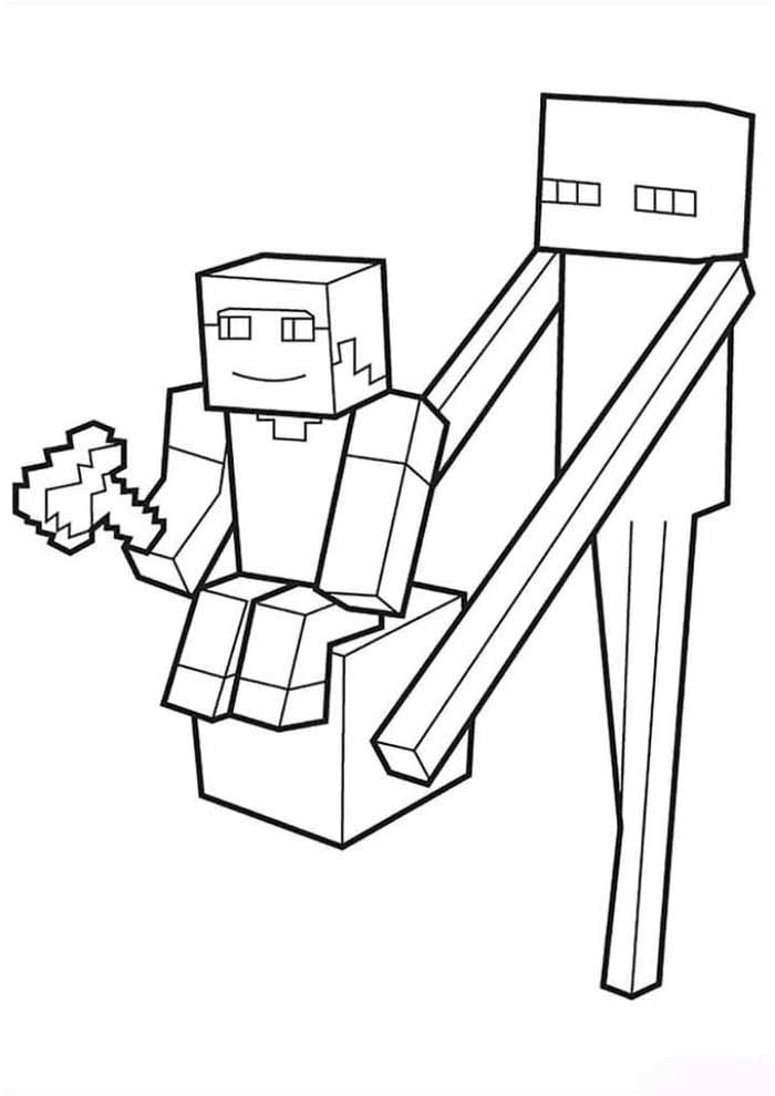 minecraft coloring page 39