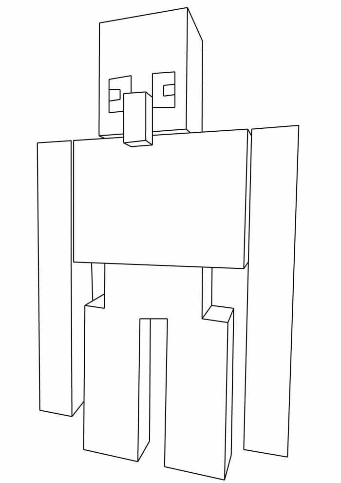 minecraft coloring page 4